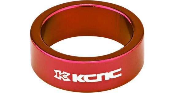 """KCNC Headset Spacer 1 1/8"""" 12mm rød"""